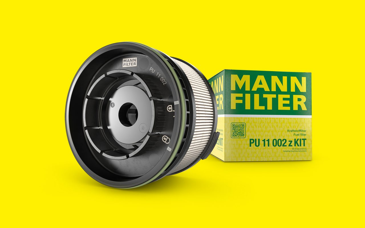 Fuel filter PU11002 with packaging
