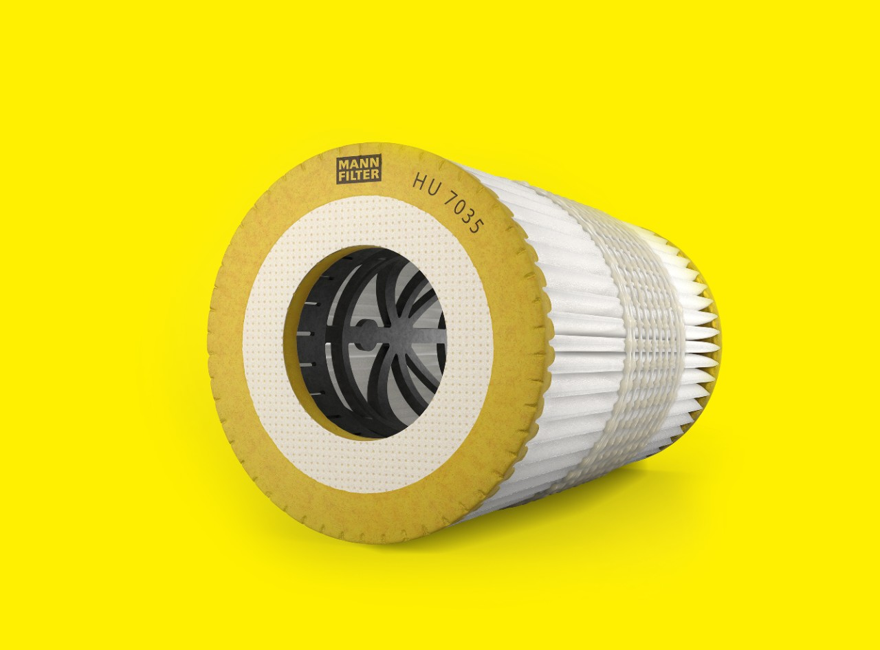 Oil filter for engine HU7035 by MANN-FILTER