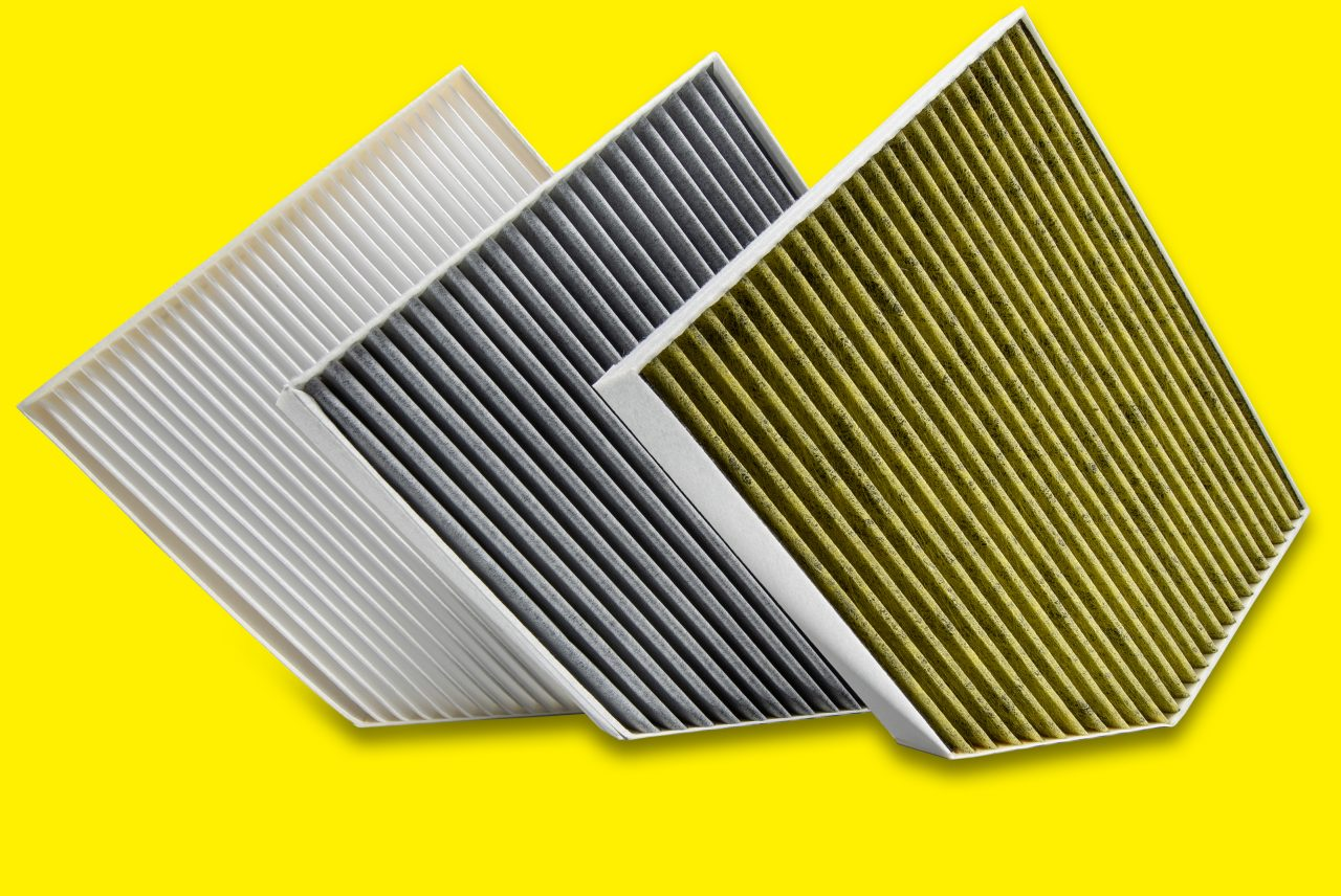 Cabin air filters for pollen